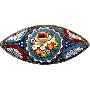Brightly-Colored Costume Mosaic Millefiori Pin