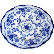 "English Flow Blue Pottery ""Conway"" Soup Bowl"