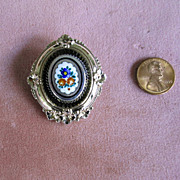 SALE Gold-Filled Victorian Pin with Enamel Decoration