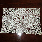 SOLD Hand-Made Lace Tray-Cover or Place-Mat Doily