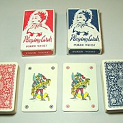 "Twin Decks Piatnik (Hungary) ""151 Poker Whist"" Playing Cards, Dutch/Flemish Pattern (for D"