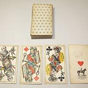 "Piatnik ""Industrie und Gluck"" Tarock Cards, J. Neumayer Designs w/ Bismarck Fool Card, c ."