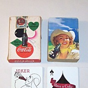 "USPC ""Coca Cola"" Glamour Playing Cards, Coca Cola Advertising, c.1950"