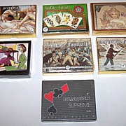 "7 Double Decks Piatnik Playing Cards $15 / each: ""Botticelli,"" ""Tudor Rose,"" ""Mucha"