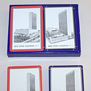 "Double Deck Arrco ""United Nations Headquarters"" Playing Cards, c.1950s"