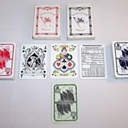 """2 Decks ASS """"Norddeutscher Lloyd Bremen"""" Playing Cards, """"Cherubic"""" Ace of Spades, c.19"""