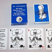 "Editions Arts Et Lettres (Grimaud) ""Le Giscarte"" Playing Cards, Eddy Munerol Designs, c.19"