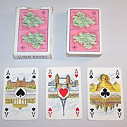 "Coeur ""Antigua"" Playing Cards, ""Internationales Kartenbild"" w/ Scenic Aces, c.1950"