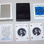 "Solleone (Plastic Cards) ""Officine Calloni"" Playing Cards, Sergio Calloni Publisher, Manzo"