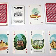 """Carta Mundi (Brepols) """"Les Grand Ecrivains"""" (""""The Great Writers"""") Playing Cards, Le Cl"""
