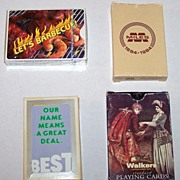 """4 Decks Advertising Playing Cards, $15/ea: (i) Firefood Specialties """"Hot Sauce Playing Cards"""
