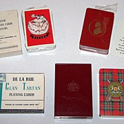 SOLD 3 Decks De La Rue Playing Cards, $10 ea.: (i) Souvenir Playing Cards of Panama, c.1957-19