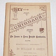 """William H. Green """"Key to Cribbage: Containing the Answer to Every Possible Combination (6,17"""