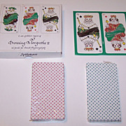 "Double Deck ""Dronning Margrethe II"" Playing Cards, Queen Margrethe II Designs, Hans ..."