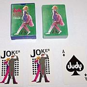"Nintendo ""Judy"" Playing Cards, Shogakukan Adv., c.1983"