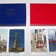 2 Double Decks Souvenir Cards, $15/ea.: (i) Arrco New York Souvenir, c.1950s; (ii) USPC (Russe