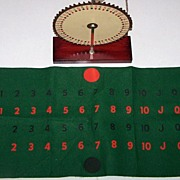 """Kerametric """"The Wheel"""" Playing Card Roulette Game, c.1940"""