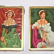 "2 Decks Arrco (Duratone) Glamour/Pin-Up Playing Cards, $25/ea., ""Josephine Bonaparte"" and"