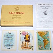 "Double Deck Fournier ""Historical"" (Discovery / Colonization America) Playing Cards,"
