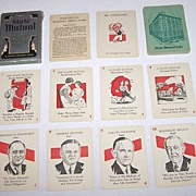 "Russell Mfg. Co. ""State Mutual Fun-Full Thrift"" Card Game, State Mutual Life Ins. Co., Ill"