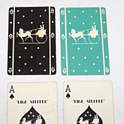 """Double Deck Gibson """"Hi-Stepper"""" Playing Cards for B.F. Dewees, Philadelphia (each 52/52, N"""