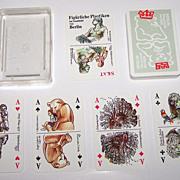 """Coeur """"Figürliche Plastiken"""" (""""Figured Sculptures"""") Skat Playing Cards, Marianne Maed"""