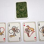 """ASS """"Das Jaegerkartenspiel"""" (""""Hunter Cards"""") Skat Playing Cards, Paul Parey Publisher,"""