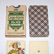 "SOLD ASS ""Cego-Karte Nr. 49"" (Wüst ""Encyclopedic Tarok"") Cego Cards, c.19"