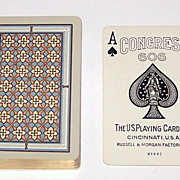 "SOLD USPC ""Congress 606 Bridge"" Playing Cards (52/52, NJ), Artistic Geometric Patter"