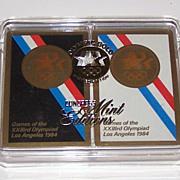 "Double Deck USPC ""XXIII Olympic Summer Games Los Angeles 1984"", w/ Presentation Box,"