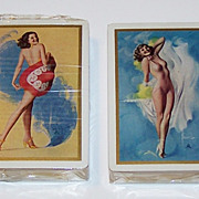 "Double Deck Brown & Bigelow ""Rolf Armstrong"" Pin-Up Playing Cards, Rolf Armstrong Designs,"