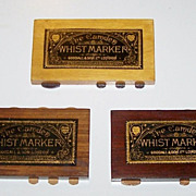 """3 Goodall """"Camden"""" Whist Markers, c.1900"""