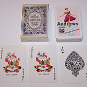 "SOLD Jarvis Porter / Porterprint ""Andrews Liver Salt"" Advertising Playing Cards, Waddingto"