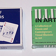 "2 Double Decks Carta Mundi ""Illusion"" Playing Cards, Y&B Associates, Inc. Publisher, $15/e"