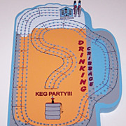 "4-Track ""Keg Party"" Cribbage Board"