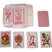 "Clemente Jacques ""Minerva"" Patience Playing Cards (""Naipe Miniatura Marca""), Original"