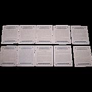 """Complete Set (25/25) W.D. & H.O. Wills """"Auction Bridge Hands"""" Cigarette Cards, c.1926"""