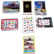 "7 Decks Various Railroad Cards, $5/ea.: (i) Maker Unknown ""Alaska""; (ii) Brown & Bigelo .."