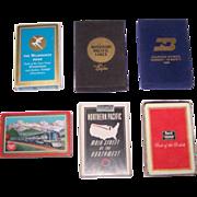 "6 Decks Railroad Cards, $10/ea.: (i) Brown & Bigelow ""Milwaukee Road""; (ii) Liberty ..."