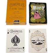"USPC Congress 606 ""Spinning Wheel"" Playing Cards, c.1900"