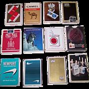 12 Decks USPC Cigarette Advertising Decks, $5/ea.: Newport (2); Lucky Strike (2); Kent (2 ...