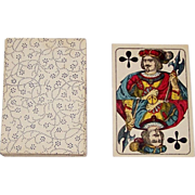Frommann & Morian Standard Pattern Skat Playing Cards, Engraving w/ Stencil Coloration, c.1880