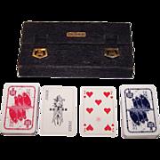 """2 Decks VASS """"Norddeutscher Lloyd Bremen"""" Maritime Playing Cards, Hansa-Whist Pattern, Bri"""