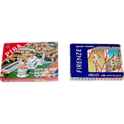 "2 Double Decks Italcards Souvenir Playing Cards, $15/ea.: (i) ""Pisa""; (ii) ""Firenze"""