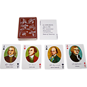 "Merrimack Publishing Corp. ""Declaration of Independence"" Playing Cards, Portraits and Facs"