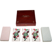 """SOLD Double Deck """"Dronning Margrethe II"""" Playing Cards w/ Custom Box, Queen Margrethe II D"""