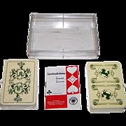 "2 Decks ASS ""Historic"" Playing Cards: (i) Hamburg, c.1975; and (ii) Stuttgart, c.1981, $15"