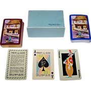 "SOLD Double Deck E.E. Fairchild ""Past-L-Eze"" Playing Cards, Dickens ""The Old Curiosity S"