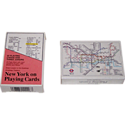 """2 Decks Carta Mundi Map Playing Cards, $15/ea.: (i) """"New York on Playing Cards""""; and (ii)"""