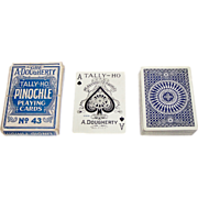 "SOLD Dougherty ""Tally Ho No. 43"" Pinochle Playing Cards, c.1917"